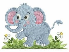 Baby Elephant 7 - 4x4 | What's New | Machine Embroidery Designs | SWAKembroidery.com Ace Points Embroidery