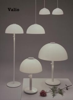 """Valio"" set of lights designed by Heikki Turunen and Timo Saarnio for Stockmann-Orno."