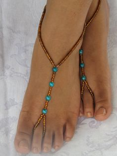 Foot jewelry Anklet Barefoot Sandles Barefoot Jewelry via Etsy