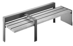 Hess America - linear wood and metal benches as well as ahs/trash receptacles, bike racks, planters, security bollards and tree grates + guards