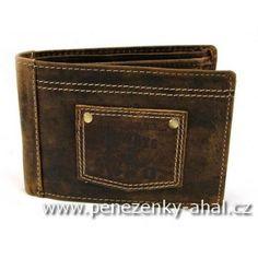 Kvalitní pánská peněženka je vyrobená z pravé kůže. Kožená kolekce Always Wild.