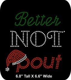 Rhinestone Bling Girls shirt Iron-On Christmas - Holiday - Sassy - Believe - Santa - Better Not Pout - pinned by pin4etsy.com