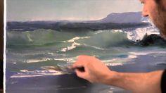 Artista Igor Sajarov. Surfar. Pintura e artesanato. Técnica única de pin...