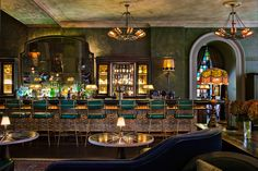 Brudnizki's Beekman Hotel is a conversion of a 19th-century office building in New York, which opened last year in the Financial District in Manhattan.