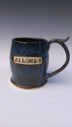 Allons-y!  Doctor Who Beer Stein - Made to Order