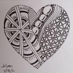 Zentangle drawings, doodle patterns, doodles zentangles, doodle drawings, z Easy Patterns To Draw, Easy Zentangle Patterns, Doodle Patterns, Heart Patterns, Doodle Art Posters, Doodle Art Journals, Pattern Drawing, Pattern Art, Pattern Design