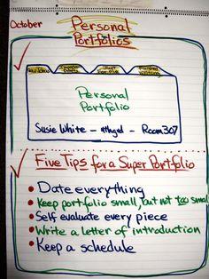Creative writing portfolio ideas