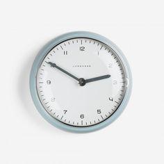 MAXBILL  wallclock  JunghansSwitzerland, 1954glazed porcelain, aluminum, glass7 dia x 1.25 d inches