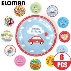 Cheap plate for cake, Buy Quality plate for birthdays directly from China plate for car Suppliers: 6PCS 7inch cartoon car diposable paper plates for boy birthday party children happy birthday paper plate for cake