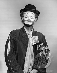 Stock Photo #255-8181A, Front view of a man in a clown costume
