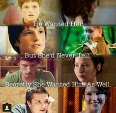 The hunger games He wanted her but she'd never tell, secretly she wanted him as well