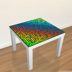 Lovely #Ikea #Table #Decal   Colorful Maze