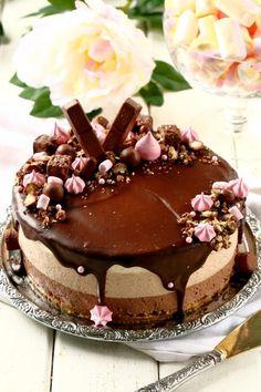 Ihana kolmen suklaan liivatteeton juustokakku - Suklaapossu