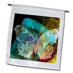 3dRose fl_11405_1 Bottle Digital Art by Angelandspot Garden Flag  12 by 18-Inch