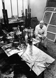 Jean Dubuffet nel suo studio, 1951