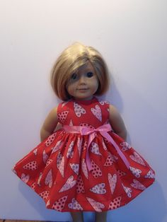"""New Clothes Fits 18"""" American Girl Doll Handmade Valentine Cookie Hearts Dress   eBay"""