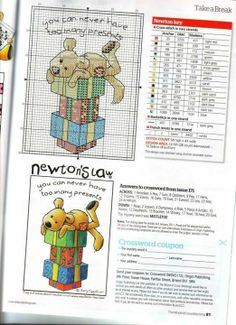 Cross-stitch Newton's Law ~ You Never Can..   1455118_333477553461698_888565370_n.jpg (522×720)
