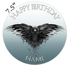 Personalised Game Of Thrones Edible Icing Topper Precut Round Square Rectangle R