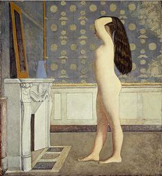 Balthus, Nude Before a Mirror, 1955, in the Metropolitan.