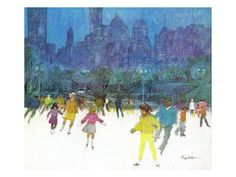 Ice Skating in Central Park, January 5, 1963 Giclee Print by Frank Mullins at Art.co.uk