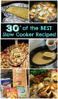 We gathered up Over 40 of the BEST Slow Cooker Recipes to share with you today...all of these are so good and super easy to make!