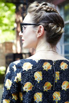 Wish I could see the other side! Willow Lindley at #refinery29 - What Our Editors Wore To NYFW