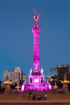 El maravilloso Angel de la Independencia, Ciudad de #Mexico  Eduardo Espinoza  Tour By Mexico - Google+ Beautiful Places In The World, Wonderful Places, Cool Places To Visit, Places To Travel, Urban Pictures, Visit Mexico, México City, Beautiful Artwork, Statue Of Liberty