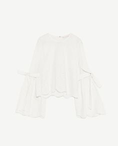 Image 8 of TOP WITH TIED DETAIL from Zara