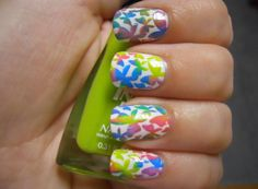 Holy Manicures: Tie-Dye Stamping Tutorial.