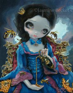 Queen of Bees Jasmine Becket-Griffith big eyes Rococo art LAST CANVAS PRINT 25