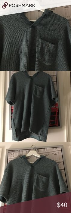 CPO Provisions Hoodie from Urban Outfitters Fisherman style knitting. Beautiful, green sweater I've never gotten to wearing. Request more pictures! NEW WITH TAGS and kept in smoke free environment. CPO Provisions Sweaters