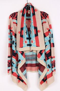 Tribal Sweater Cardigan #swoonboutique