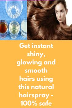 Get instant shiny, glowing and smooth hairs using this natural hairspray - 100% safe I am writing to get instant glossy hair using very simple and natural spray. This natural hair spray is completely safe for regular use, and it does not contain any chemicals in it, this spray is a fantastic remedy for Instant Glossy Hair. You can use this treatment anytime on cleaned hair and get super …