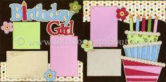 Birthday Girl Scrapbook Page Kit