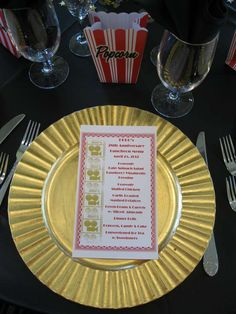 table setting. menu