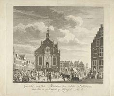 Leendert Brasser | Stadhuis en markt te Schiedam, Leendert Brasser, 1777 |