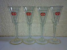 4 Gläser Original Malteserkreuz Aquavit 2cl Schnapsgläser KULT TOP LOOK --
