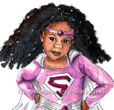 African American Super Girl