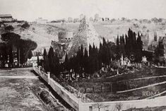 Monte dei Cocci e piramide 1855 Fantasy World Map, Roman Architecture, Roman History, Old Photos, Rome, Places, Engineering, Antique Photos, Italy