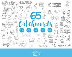 Catchword Ampersands Clipart Hand Drawn Elements