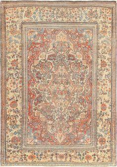 Antique Mohtasham Kashan Persian Carpet 47174 Main Image - By Nazmiyal  http://nazmiyalantiquerugs.com/antique-rugs/persian-rugs/antique-mohtasham-kashan-persian-carpet-47174/