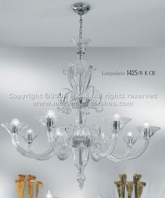 Crystal chandelier at eight lights