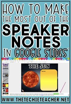 Learn How To Get The Most Out Of The Speaker Notes In Google Slides™ whether you are presenting or assigning templates or activities to students! Come learn about some tips for Chromebook, laptop/computer and iPad users. Google Classroom. Teaching Technology, Educational Technology, Educational Leadership, Technology Integration, Medical Technology, Energy Technology, Technology Gadgets, Digital Technology, Google Classroom