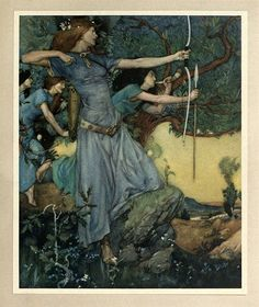 """William Russell Flint fuckyeahvintageillustration: """" 'Le morte d'Arthur - the history of King Arthur and of his noble knights of the round table, volume II' by Sir Thomas Malory; illustrated by William Russell Flint. William Russell, Noble Knight, Elfa, Pre Raphaelite, Wow Art, Art Moderne, Classical Art, Art Plastique, Oeuvre D'art"""