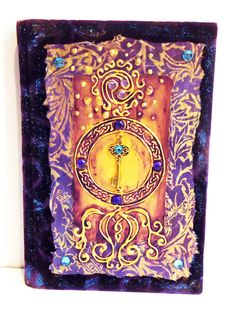 Handmade Journal, Sketch Book, Book of Shadows, Diary, Tree of Life, Butterfy, Grail