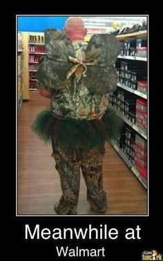 Omg!!! It's the Huntin' Fairy! If I put my rifle under my pillow, will he bring me a buck?!?!