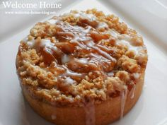 Welcome Home Blog: Mini Toffee Streusel Apple Cakes