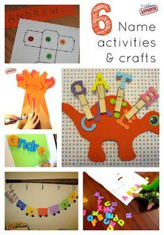 Cute Name Activites for Preschool!
