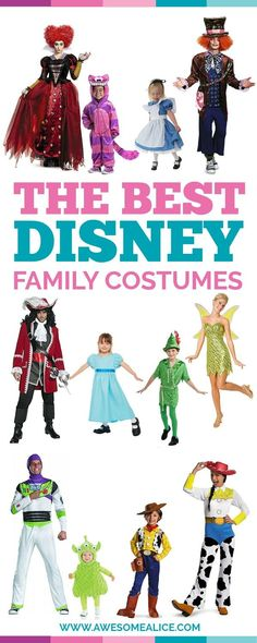 More than 70 Halloween costume ideas. Dress up your entire family in these cute and fun Disney costumes. Dress up yourself, your kids, toddler, and baby in these creative and themed Disney costumes and have the best matching Halloween Costumes of them all!