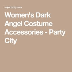 Women's Dark Angel Costume Accessories - Party City